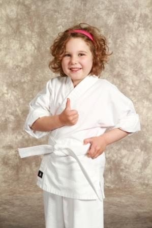 Happy Karate Girl