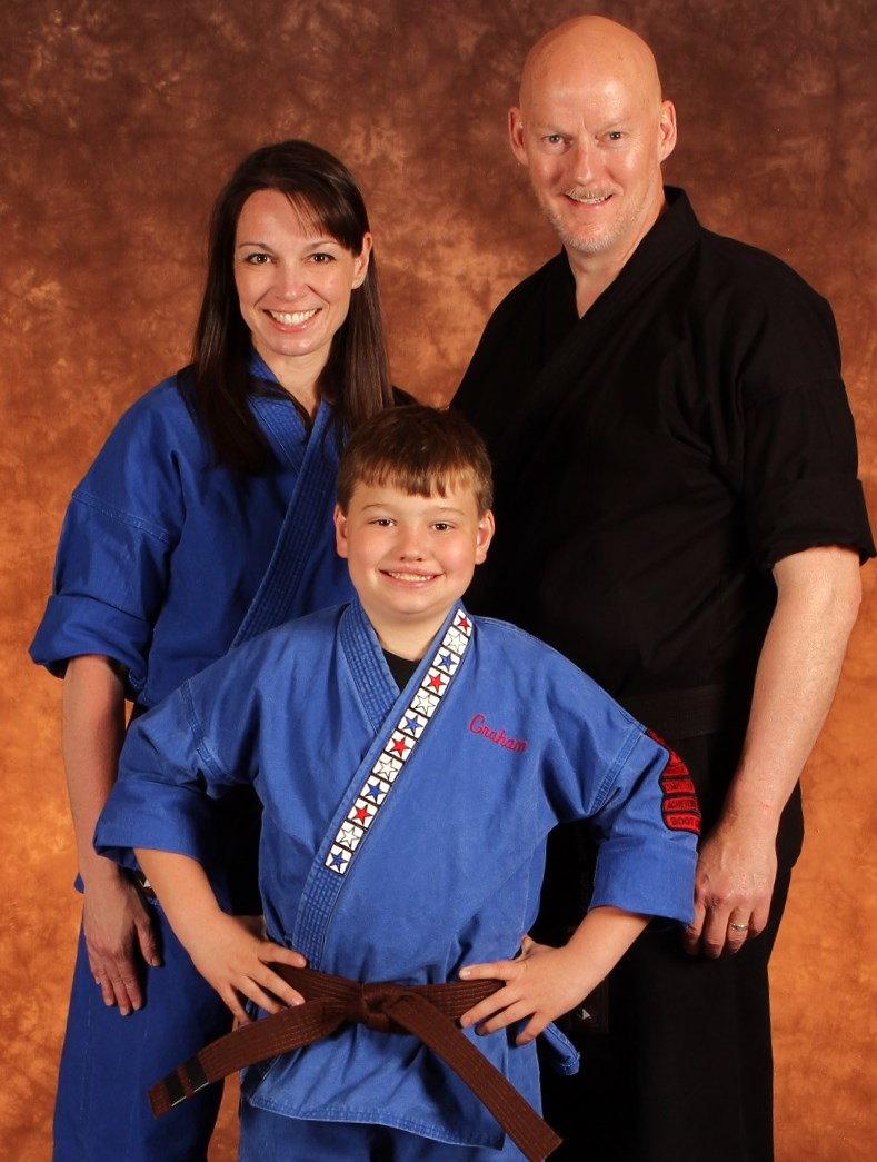 Chief Instructor and Owner, Mr. Jeff Christensen and family, Karate America Verona